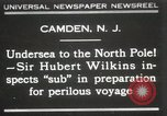 Image of Sir George Hubert Camden New Jersey USA, 1931, second 1 stock footage video 65675023620