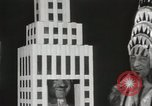 Image of architects dressed as buildings New York United States USA, 1931, second 15 stock footage video 65675023621