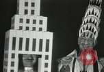 Image of architects dressed as buildings New York United States USA, 1931, second 16 stock footage video 65675023621