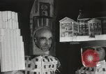 Image of architects dressed as buildings New York United States USA, 1931, second 25 stock footage video 65675023621