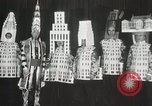 Image of architects dressed as buildings New York United States USA, 1931, second 28 stock footage video 65675023621