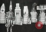Image of architects dressed as buildings New York United States USA, 1931, second 29 stock footage video 65675023621