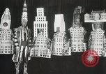 Image of architects dressed as buildings New York United States USA, 1931, second 31 stock footage video 65675023621