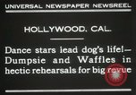 Image of dogs perform in revue Hollywood California USA, 1931, second 10 stock footage video 65675023622