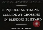 Image of train collision Readville Massachusetts USA, 1931, second 1 stock footage video 65675023623