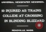 Image of train collision Readville Massachusetts USA, 1931, second 2 stock footage video 65675023623