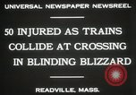 Image of train collision Readville Massachusetts USA, 1931, second 3 stock footage video 65675023623