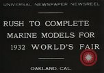 Image of Otto Gradenigo makes Marine models Oakland California USA, 1931, second 1 stock footage video 65675023624