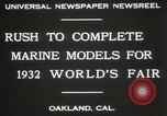 Image of Otto Gradenigo makes Marine models Oakland California USA, 1931, second 4 stock footage video 65675023624