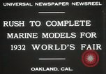 Image of Otto Gradenigo makes Marine models Oakland California USA, 1931, second 5 stock footage video 65675023624