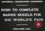Image of Otto Gradenigo makes Marine models Oakland California USA, 1931, second 7 stock footage video 65675023624
