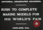 Image of Otto Gradenigo makes Marine models Oakland California USA, 1931, second 8 stock footage video 65675023624