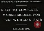 Image of Otto Gradenigo makes Marine models Oakland California USA, 1931, second 10 stock footage video 65675023624