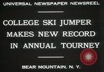 Image of Edward Blood's Ski jump record Bear Mountain New York USA, 1931, second 3 stock footage video 65675023625