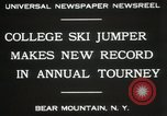 Image of Edward Blood's Ski jump record Bear Mountain New York USA, 1931, second 5 stock footage video 65675023625