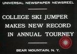 Image of Edward Blood's Ski jump record Bear Mountain New York USA, 1931, second 6 stock footage video 65675023625