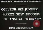 Image of Edward Blood's Ski jump record Bear Mountain New York USA, 1931, second 7 stock footage video 65675023625