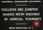 Image of Edward Blood's Ski jump record Bear Mountain New York USA, 1931, second 8 stock footage video 65675023625