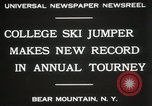 Image of Edward Blood's Ski jump record Bear Mountain New York USA, 1931, second 9 stock footage video 65675023625