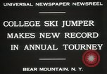 Image of Edward Blood's Ski jump record Bear Mountain New York USA, 1931, second 10 stock footage video 65675023625