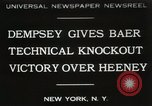 Image of Baer-Heeney boxing match New York City USA, 1931, second 1 stock footage video 65675023626