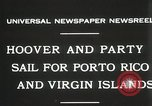 Image of President Hoover sails to Puerto Rico and Virgin Islands Old Point Comfort Virginia USA, 1931, second 2 stock footage video 65675023628
