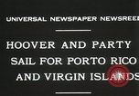 Image of President Hoover sails to Puerto Rico and Virgin Islands Old Point Comfort Virginia USA, 1931, second 3 stock footage video 65675023628