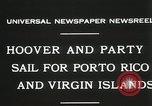 Image of President Hoover sails to Puerto Rico and Virgin Islands Old Point Comfort Virginia USA, 1931, second 7 stock footage video 65675023628