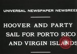 Image of President Hoover sails to Puerto Rico and Virgin Islands Old Point Comfort Virginia USA, 1931, second 8 stock footage video 65675023628