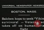 Image of Colonel Balchen to rescue The Viking survivors Boston Massachusetts USA, 1931, second 2 stock footage video 65675023630