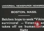 Image of Colonel Balchen to rescue The Viking survivors Boston Massachusetts USA, 1931, second 3 stock footage video 65675023630