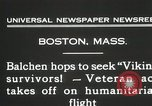 Image of Colonel Balchen to rescue The Viking survivors Boston Massachusetts USA, 1931, second 5 stock footage video 65675023630