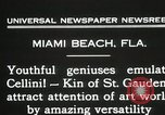 Image of sculptors emulate Cellini Miami Florida USA, 1931, second 12 stock footage video 65675023631