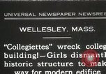 Image of Students destroy college building Wellesley Massachusetts USA, 1931, second 1 stock footage video 65675023632
