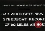 Image of Gar Wood speedboat record Miami Beach Florida USA, 1931, second 1 stock footage video 65675023634