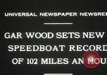 Image of Gar Wood speedboat record Miami Beach Florida USA, 1931, second 2 stock footage video 65675023634