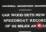 Image of Gar Wood speedboat record Miami Beach Florida USA, 1931, second 4 stock footage video 65675023634