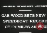 Image of Gar Wood speedboat record Miami Beach Florida USA, 1931, second 6 stock footage video 65675023634