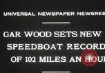 Image of Gar Wood speedboat record Miami Beach Florida USA, 1931, second 7 stock footage video 65675023634