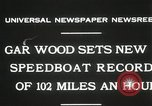 Image of Gar Wood speedboat record Miami Beach Florida USA, 1931, second 8 stock footage video 65675023634