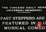 Image of Fast steppers in musical comedy Chicago Illinois USA, 1931, second 1 stock footage video 65675023635