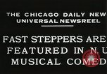 Image of Fast steppers in musical comedy Chicago Illinois USA, 1931, second 2 stock footage video 65675023635
