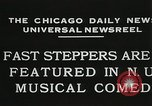 Image of Fast steppers in musical comedy Chicago Illinois USA, 1931, second 4 stock footage video 65675023635