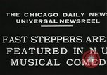 Image of Fast steppers in musical comedy Chicago Illinois USA, 1931, second 5 stock footage video 65675023635