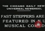 Image of Fast steppers in musical comedy Chicago Illinois USA, 1931, second 8 stock footage video 65675023635
