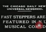 Image of Fast steppers in musical comedy Chicago Illinois USA, 1931, second 9 stock footage video 65675023635