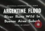 Image of flood in Buenos Aries Argentina, 1958, second 2 stock footage video 65675023636