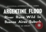 Image of flood in Buenos Aries Argentina, 1958, second 3 stock footage video 65675023636
