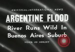 Image of flood in Buenos Aries Argentina, 1958, second 6 stock footage video 65675023636
