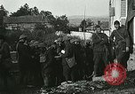 Image of Red Cross staff distribute hot chocolate to soldiers Chatel Chehery France, 1918, second 7 stock footage video 65675023650